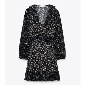 Zara Combination Print Mini Dress